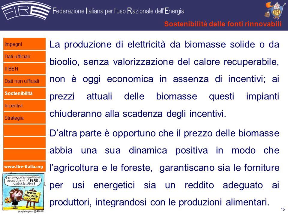 Sostenibilità delle fonti rinnovabili