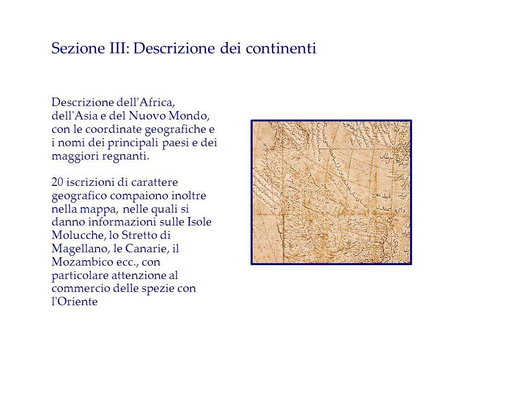 Sezione III: Descrizione dei continenti