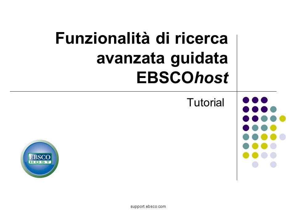Funzionalità di ricerca avanzata guidata EBSCOhost
