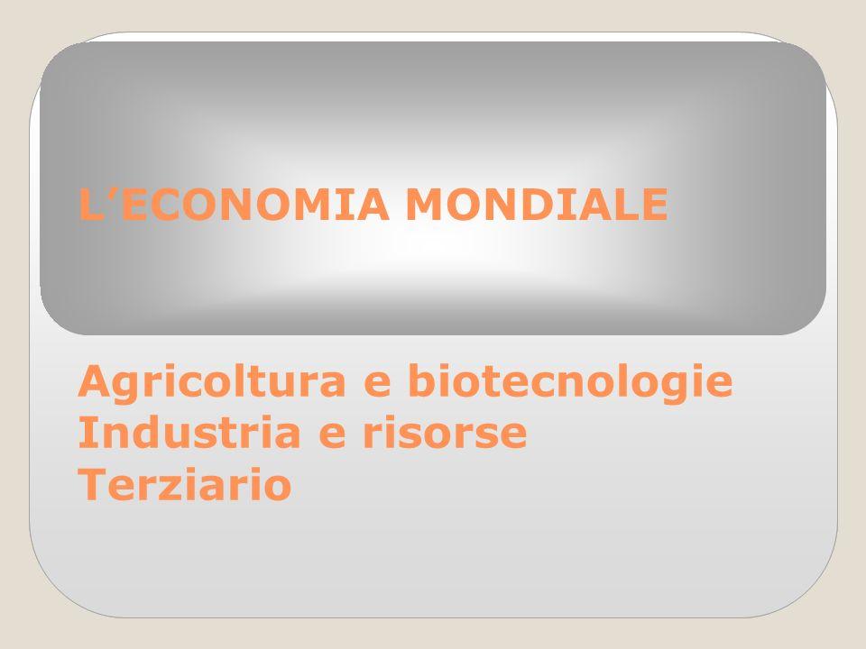Agricoltura e biotecnologie Industria e risorse Terziario