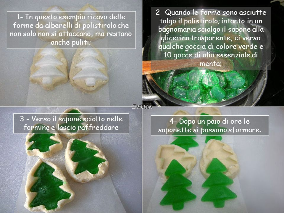 3 - Verso il sapone sciolto nelle formine e lascio raffreddare
