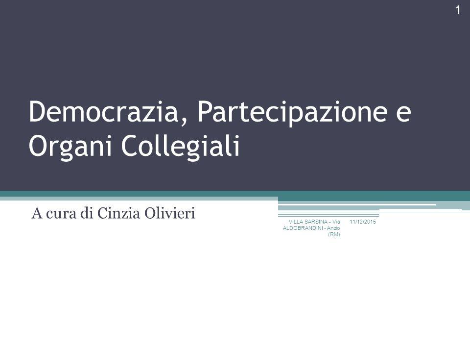 Democrazia, Partecipazione e Organi Collegiali