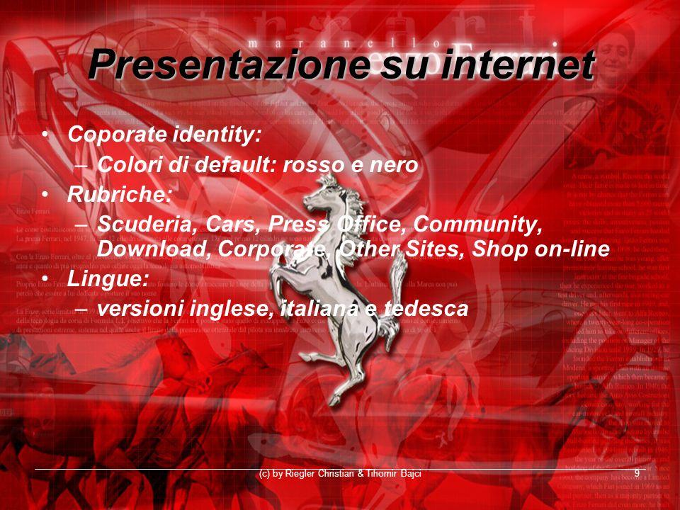 Presentazione su internet