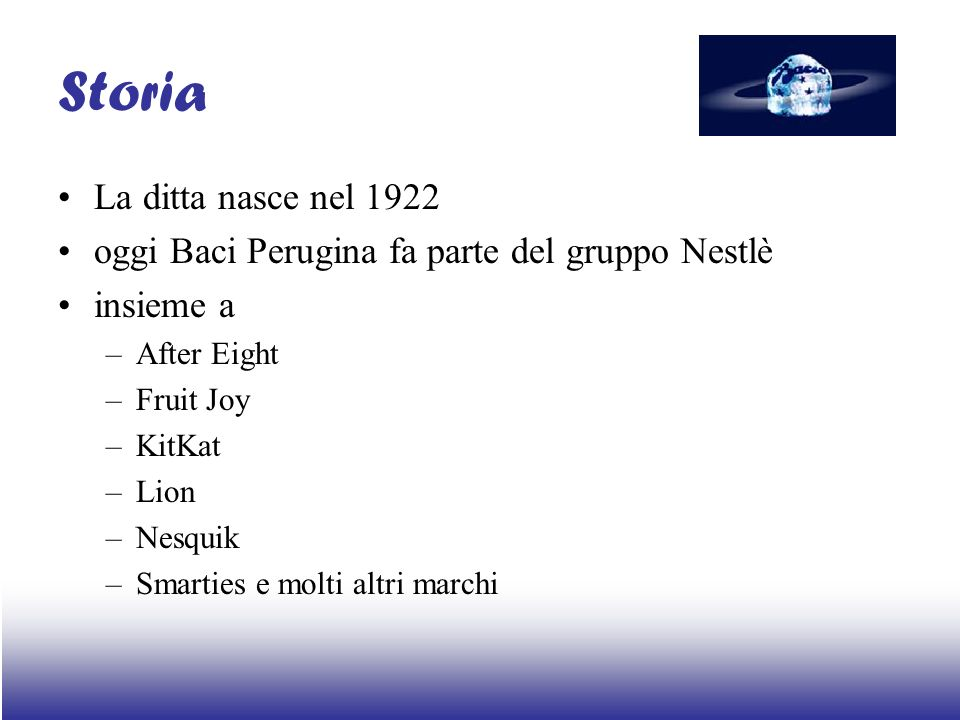 Storia La ditta nasce nel 1922