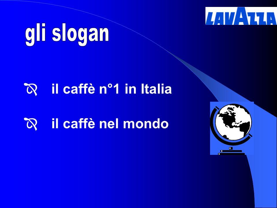 gli slogan il caffè n°1 in Italia il caffè nel mondo