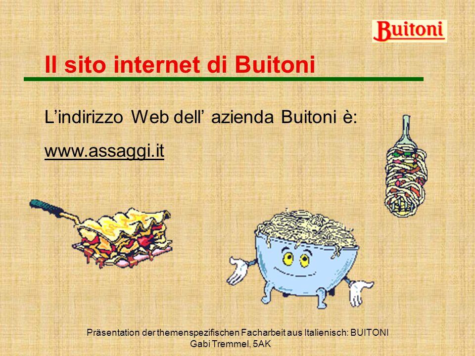 Il sito internet di Buitoni