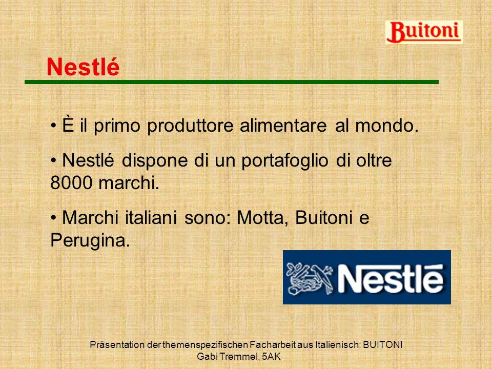 Nestlé È il primo produttore alimentare al mondo.