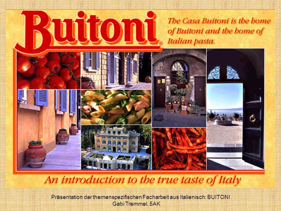 Präsentation der themenspezifischen Facharbeit aus Italienisch: BUITONI