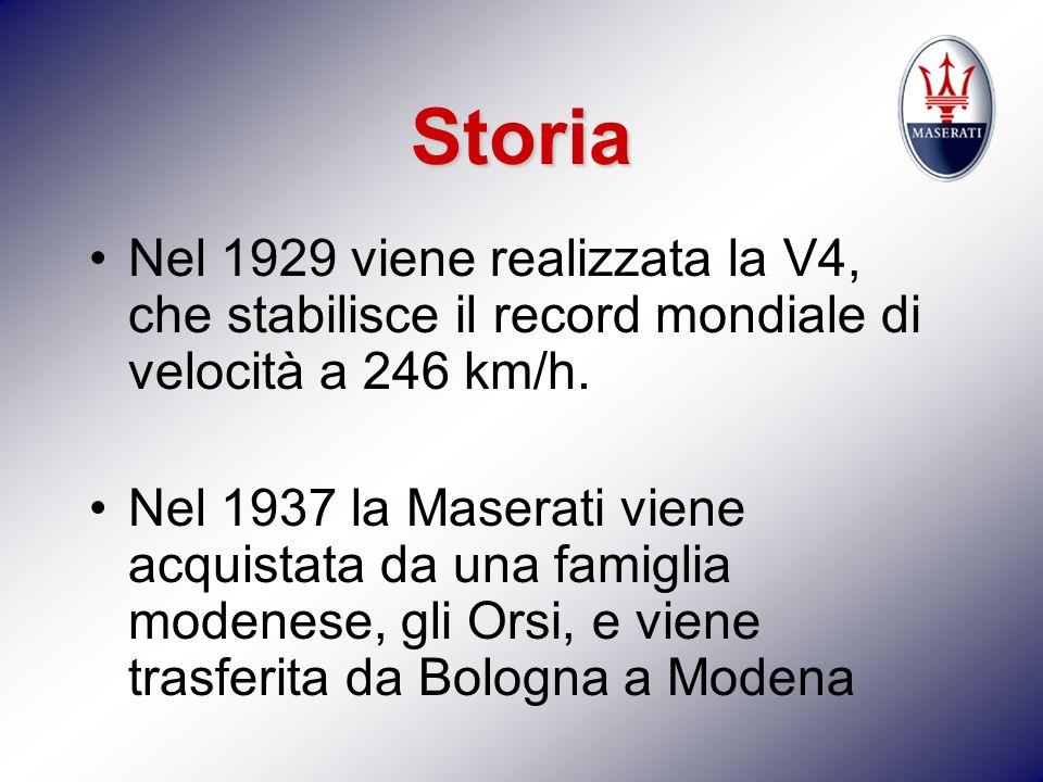 Storia Nel 1929 viene realizzata la V4, che stabilisce il record mondiale di velocità a 246 km/h.