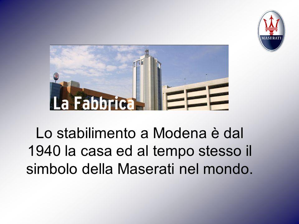 Lo stabilimento a Modena è dal 1940 la casa ed al tempo stesso il simbolo della Maserati nel mondo.