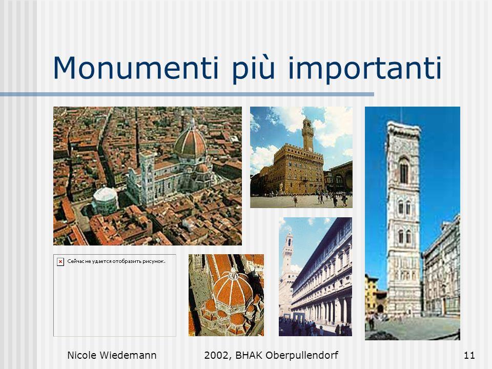 Monumenti più importanti