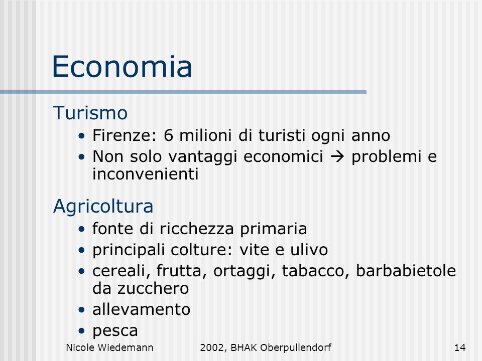 Economia Turismo Agricoltura Firenze: 6 milioni di turisti ogni anno