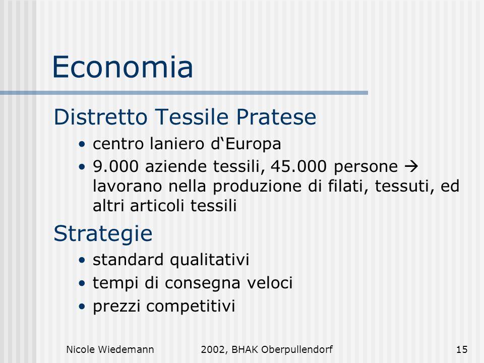 Economia Distretto Tessile Pratese Strategie centro laniero d'Europa
