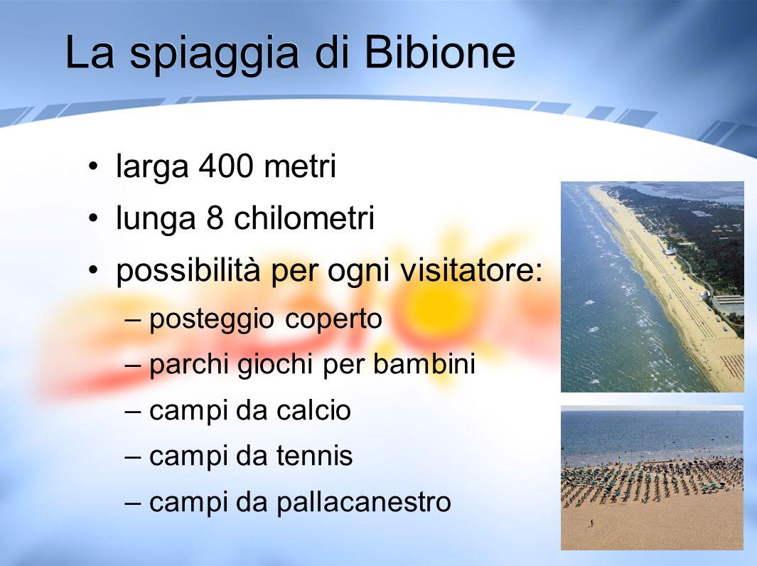 La spiaggia di Bibione larga 400 metri lunga 8 chilometri