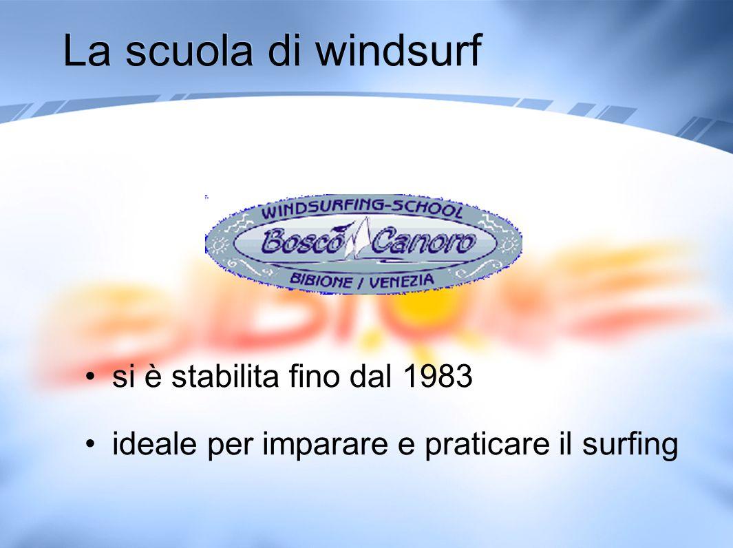 La scuola di windsurf si è stabilita fino dal 1983