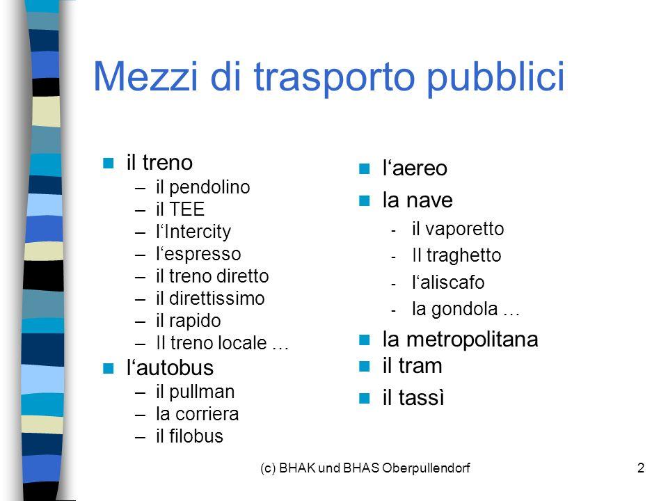 Mezzi di trasporto pubblici