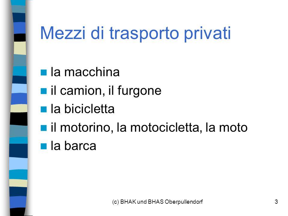 Mezzi di trasporto privati