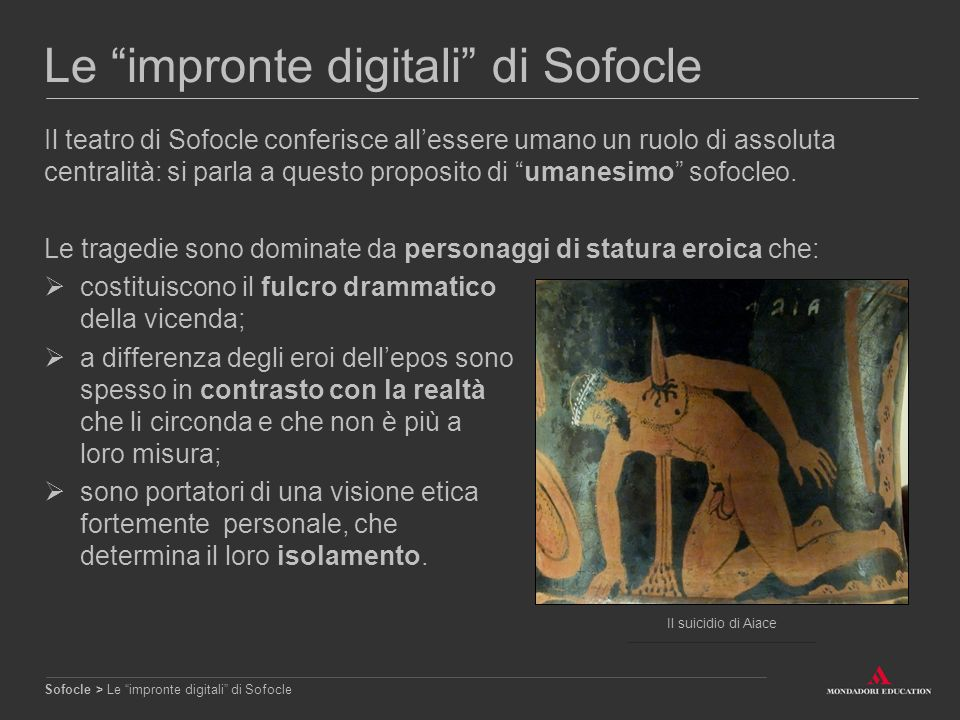 Le impronte digitali di Sofocle