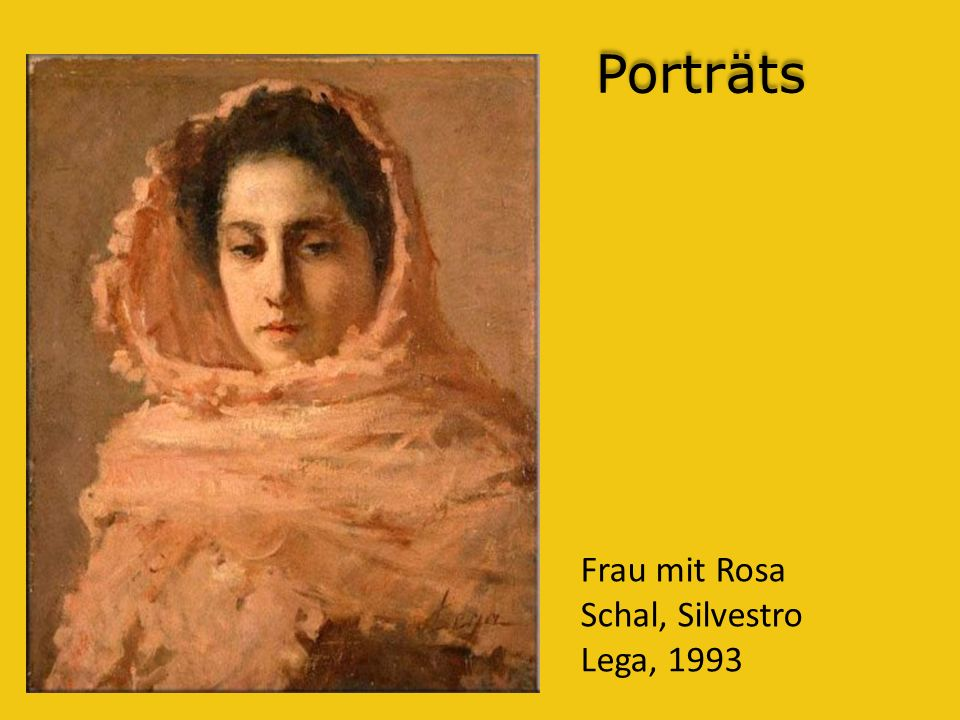 Porträts Frau mit Rosa Schal, Silvestro Lega, 1993