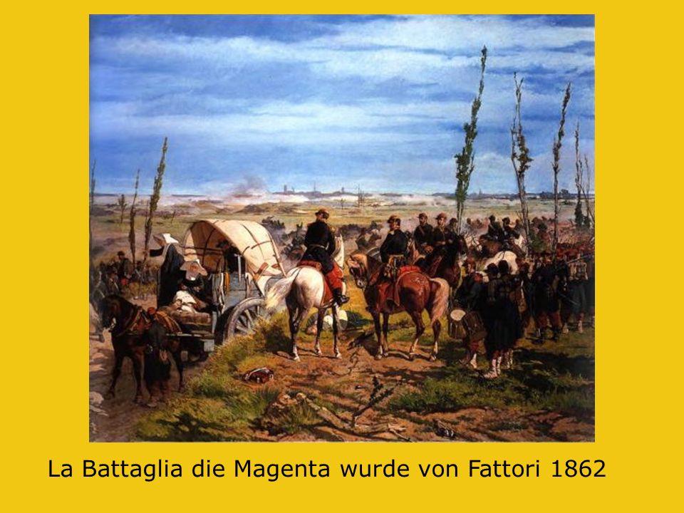 La Battaglia die Magenta wurde von Fattori 1862