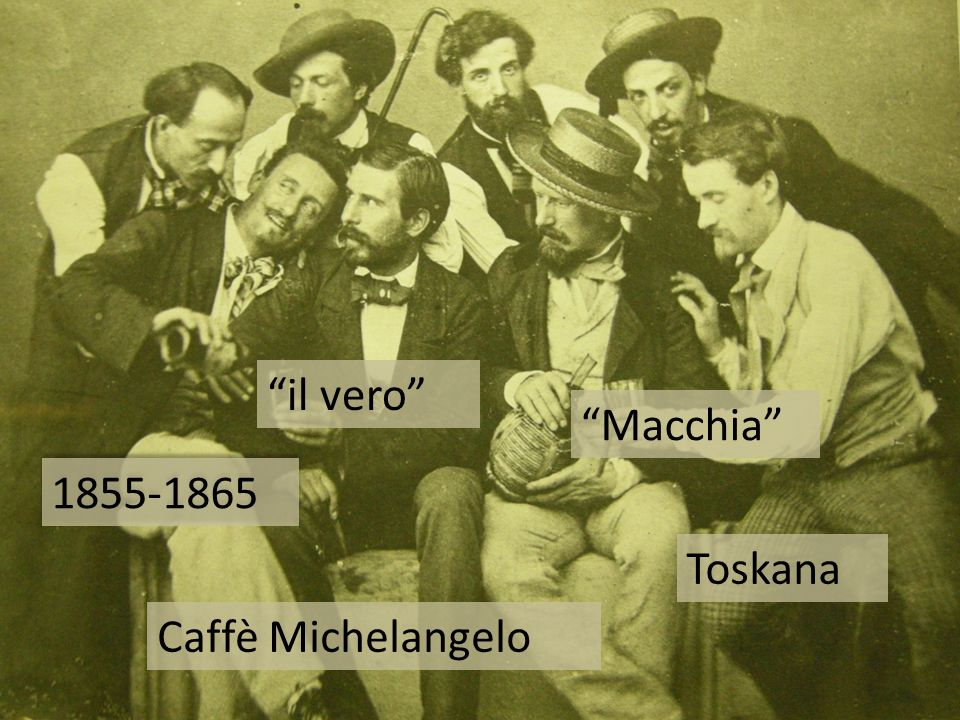 il vero Macchia 1855-1865 Toskana Caffè Michelangelo