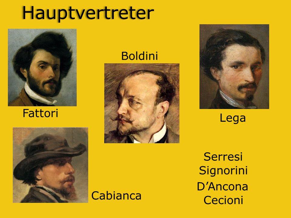 Hauptvertreter Boldini Fattori Lega Serresi Signorini D'Ancona