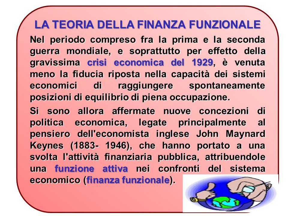 LA TEORIA DELLA FINANZA FUNZIONALE