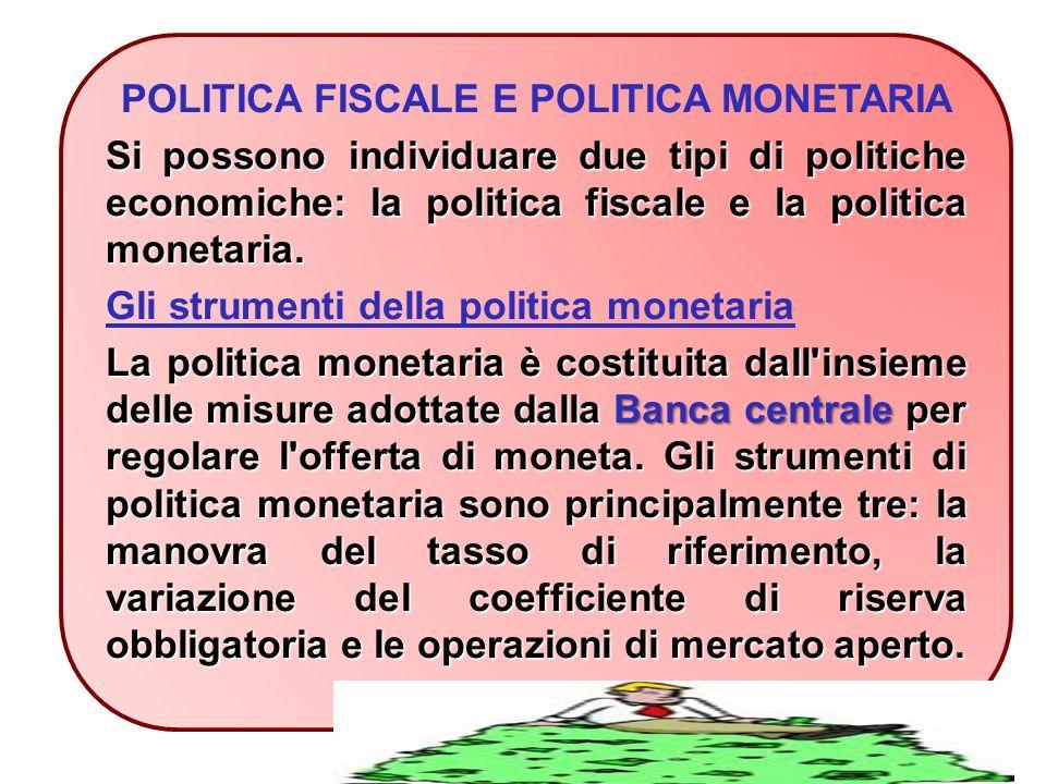 POLITICA FISCALE E POLITICA MONETARIA