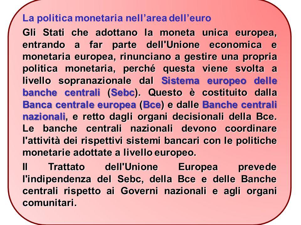 La politica monetaria nell'area dell'euro