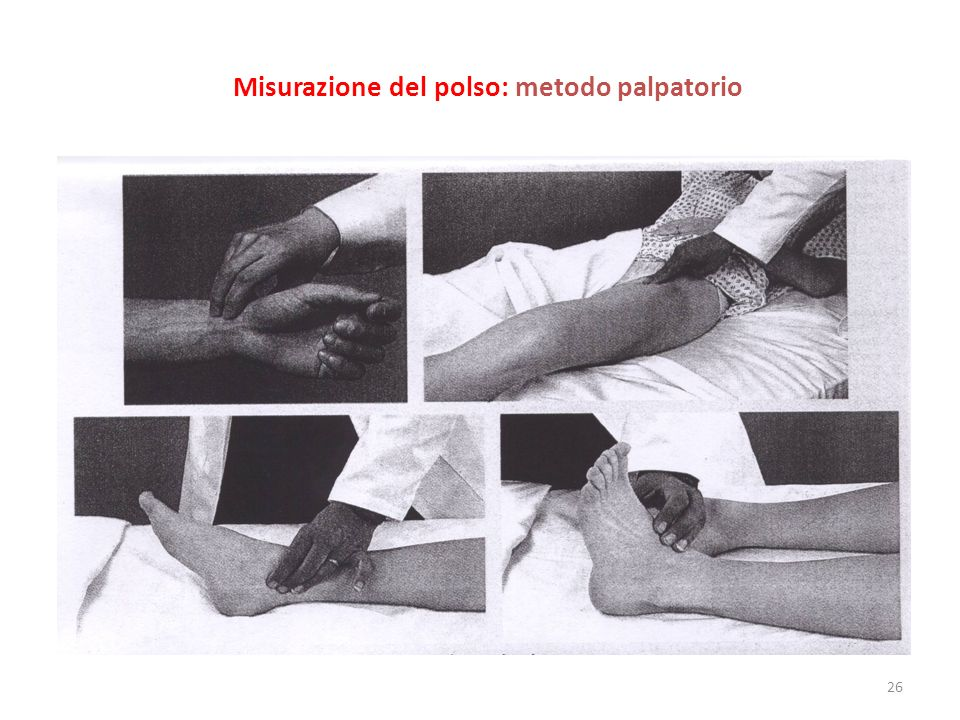 Misurazione del polso: metodo palpatorio