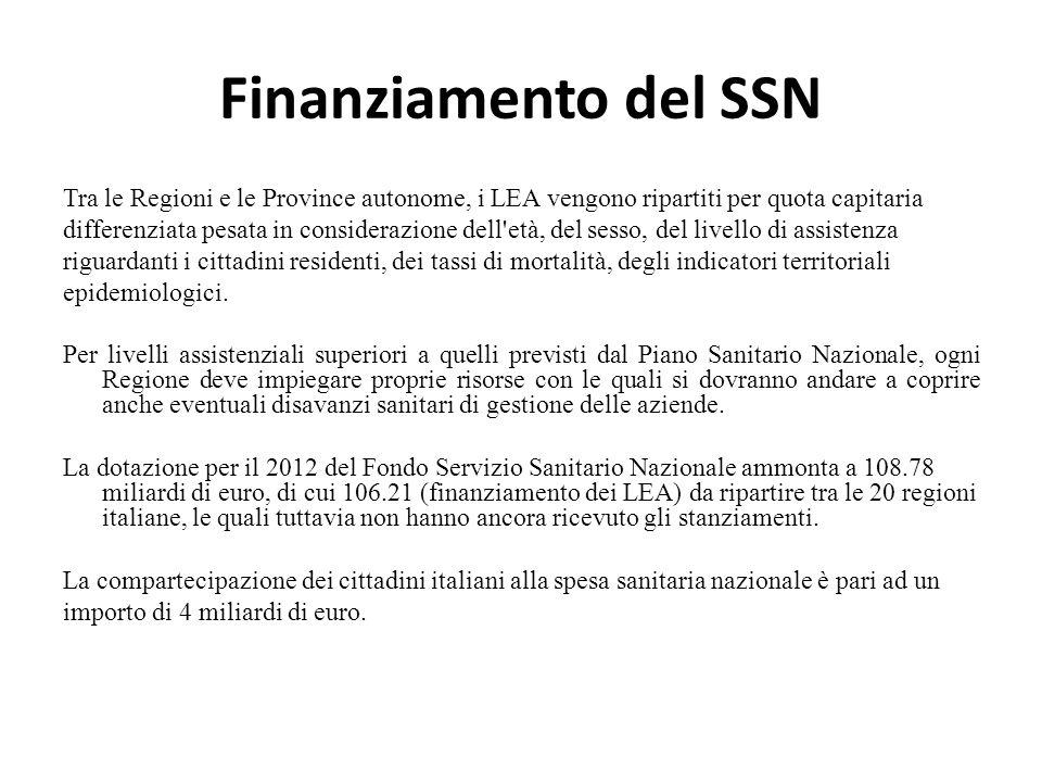 La sanit in italia raffaele lagravinese ppt scaricare - Regioni italiane non bagnate dal mare ...