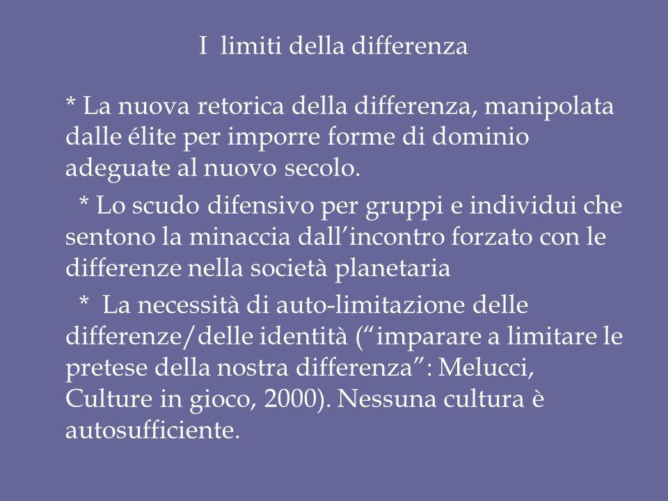 I limiti della differenza