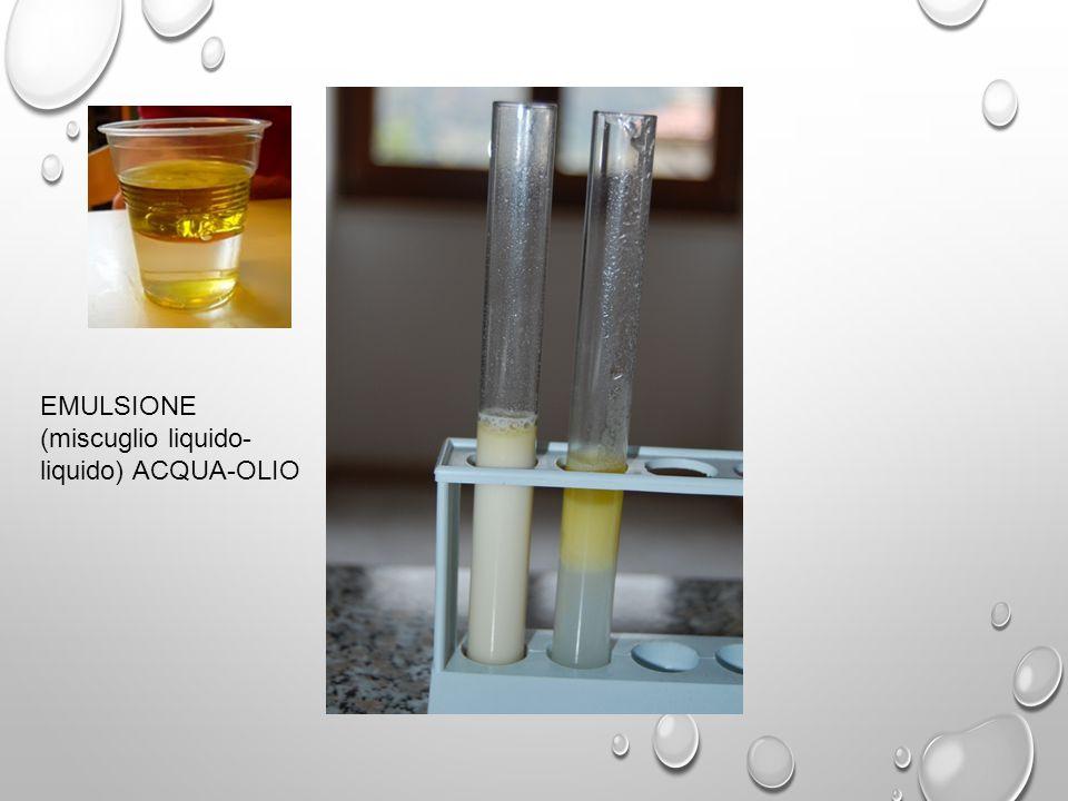 Emulsione (miscuglio liquido-liquido) ACQUA-OLIO