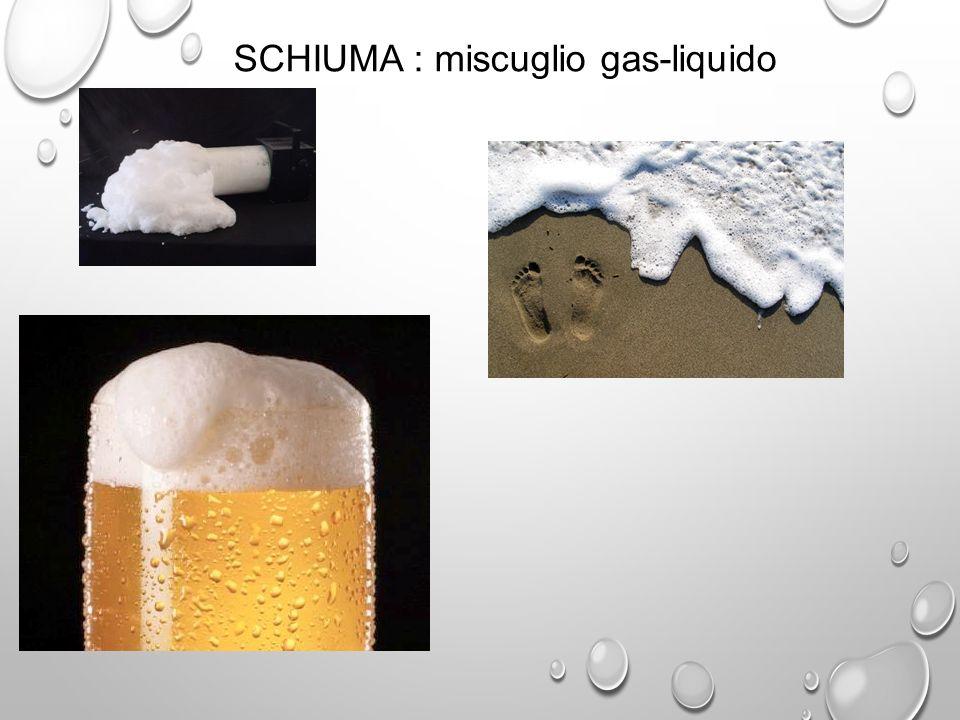 SCHIUMA : miscuglio gas-liquido