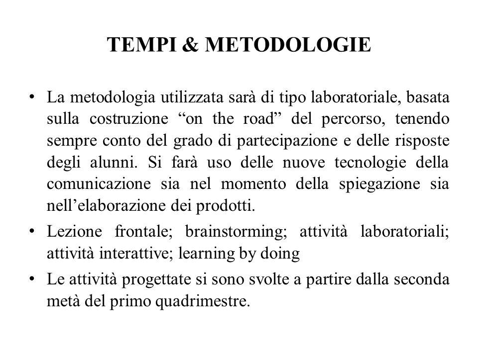 TEMPI & METODOLOGIE