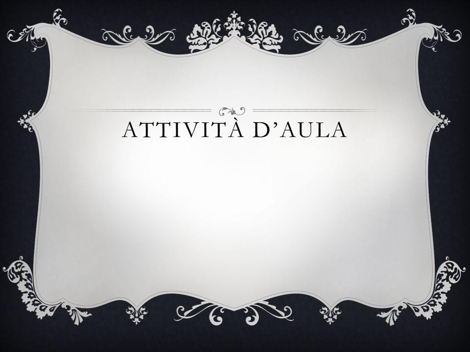 ATTIVITÀ D'AULA