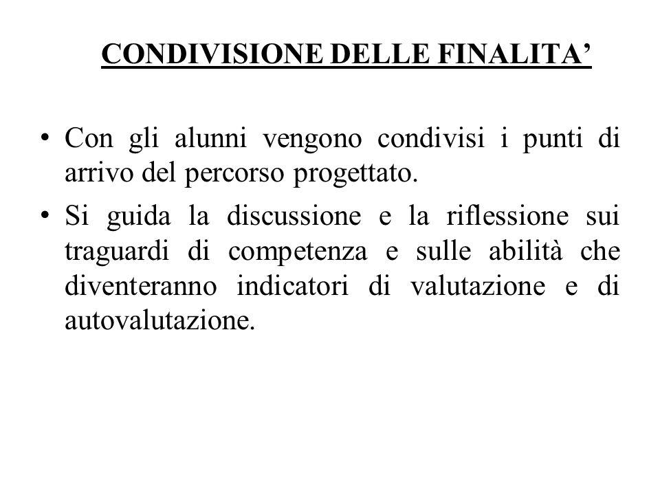 CONDIVISIONE DELLE FINALITA'