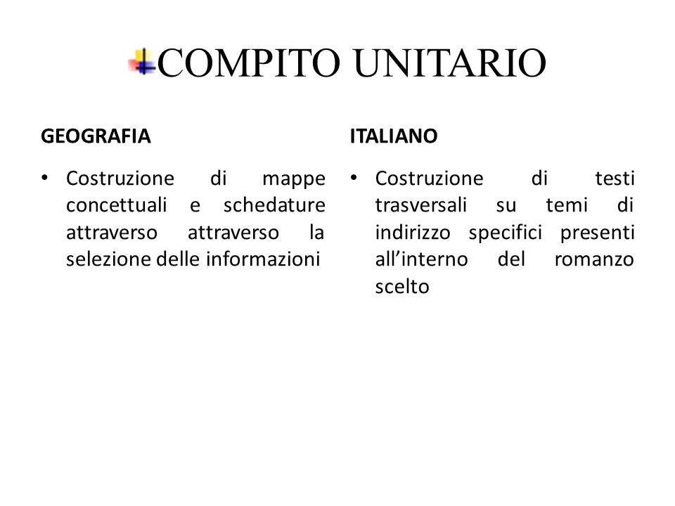 COMPITO UNITARIO GEOGRAFIA ITALIANO