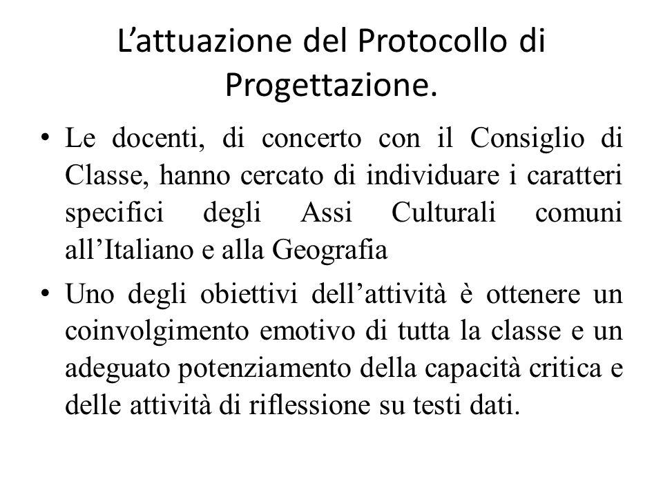 L'attuazione del Protocollo di Progettazione.