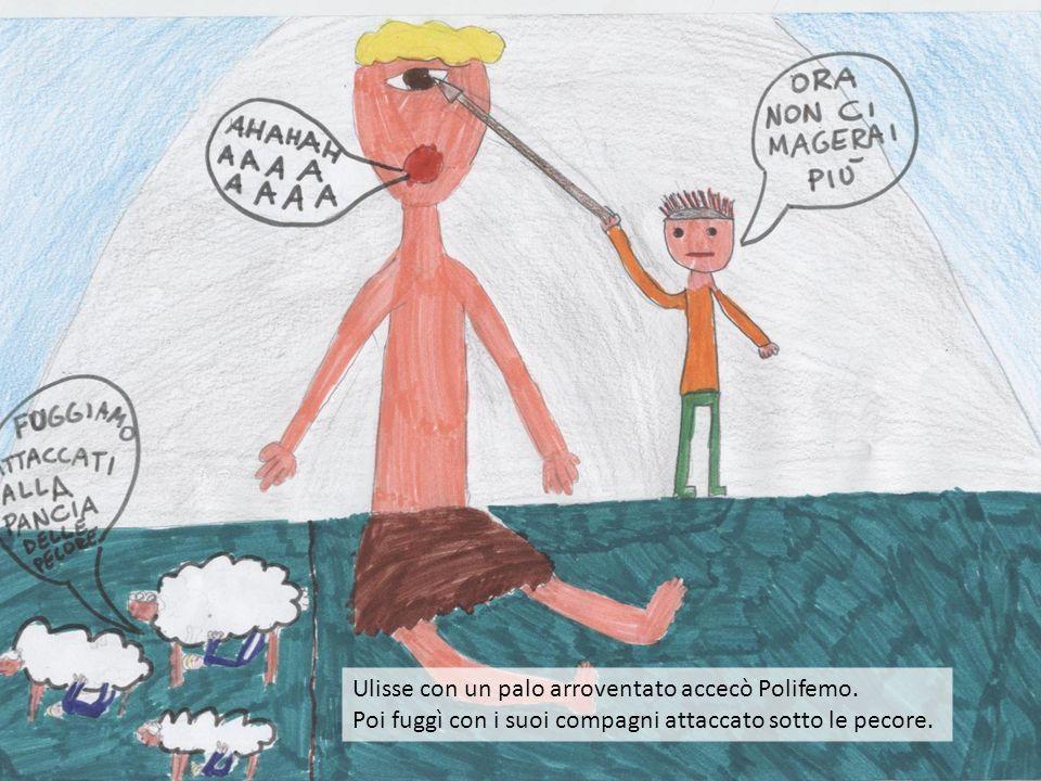 Ulisse con un palo arroventato accecò Polifemo.