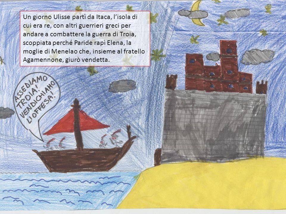 Un giorno Ulisse partì da Itaca, l'isola di cui era re, con altri guerrieri greci per andare a combattere la guerra di Troia, scoppiata perché Paride rapì Elena, la moglie di Menelao che, insieme al fratello Agamennone, giurò vendetta.