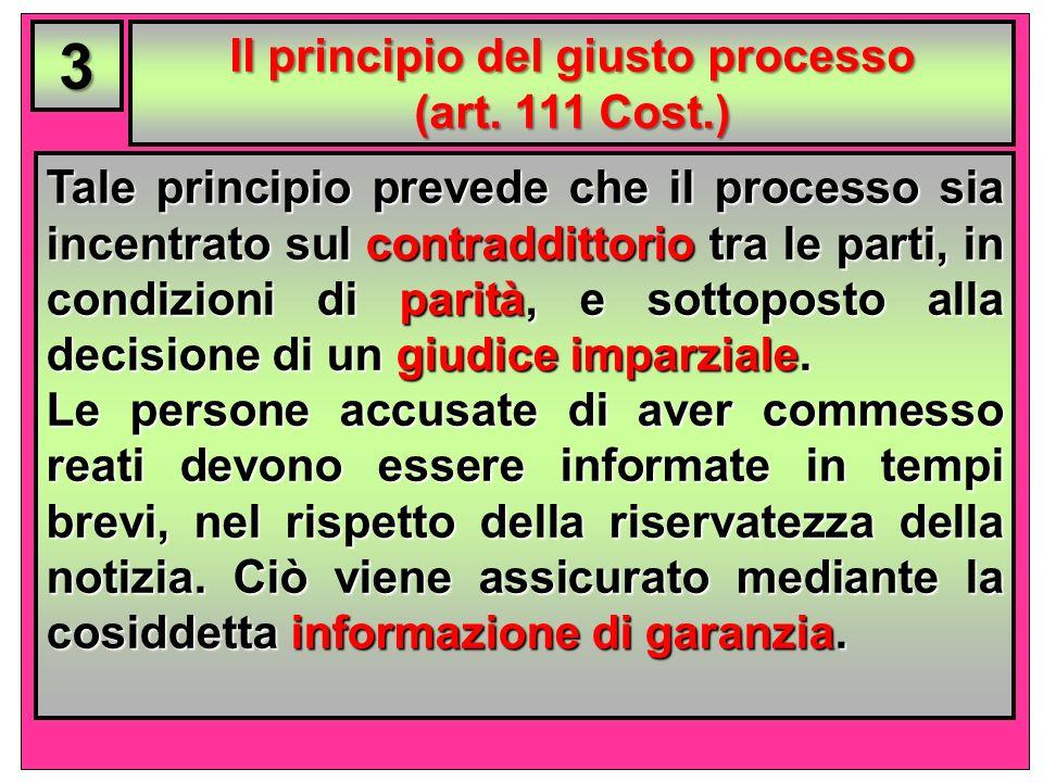 Il principio del giusto processo