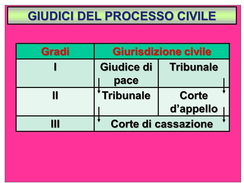 GIUDICI DEL PROCESSO CIVILE