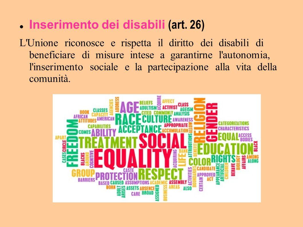 Inserimento dei disabili (art. 26)