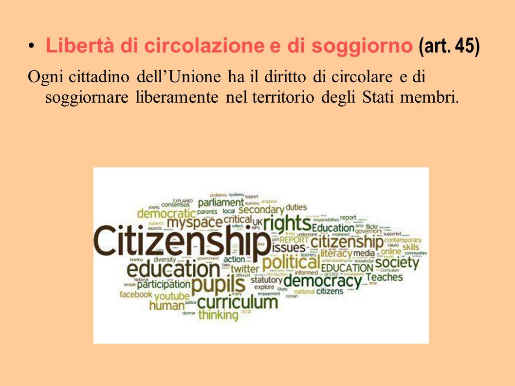 Libertà di circolazione e di soggiorno (art. 45)