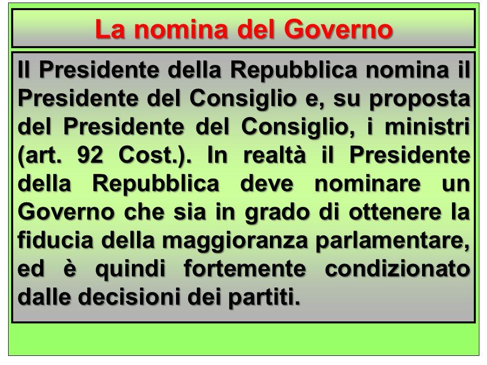 La nomina del Governo