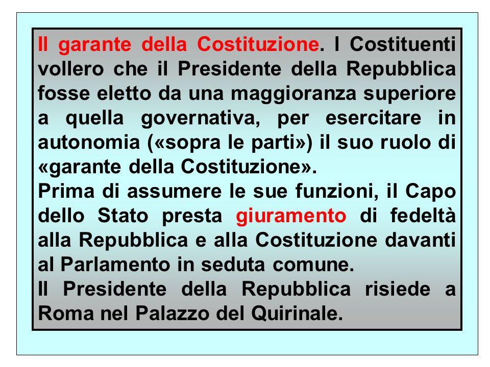 Il garante della Costituzione