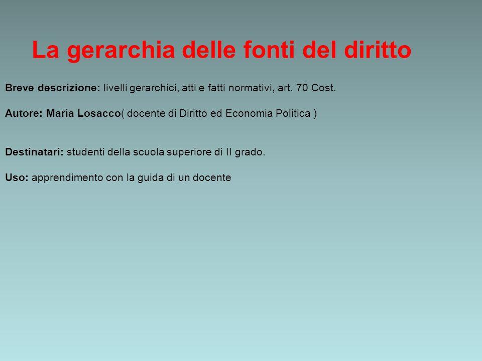 La gerarchia delle fonti del diritto ppt video online scaricare - Diritto d uso immobile ...
