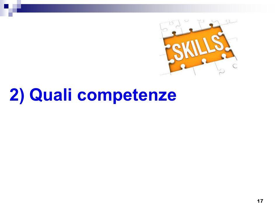 2) Quali competenze