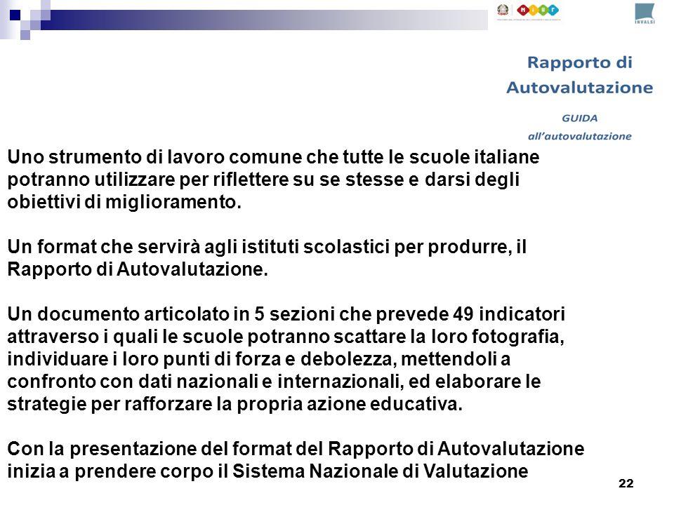 Uno strumento di lavoro comune che tutte le scuole italiane potranno utilizzare per riflettere su se stesse e darsi degli obiettivi di miglioramento.